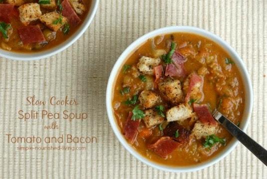 Crock Pot Split Pea Soup with Bacon
