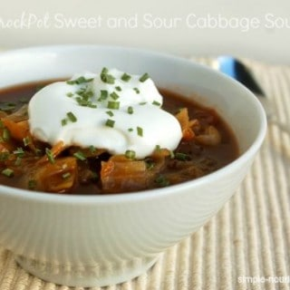 Weight Watchers Crock Pot Sweet and Sour Cabbage Soup