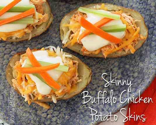 Buffalo Chicken Potato Skins