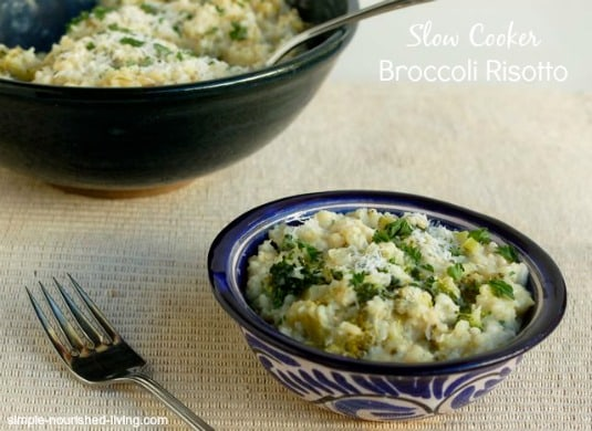 Slow Cooker Broccoli Risotto