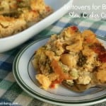 Leftovers for Breakfast Slow Cooker Casserole