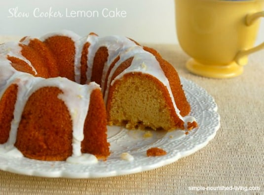 Crock Pot Lemon Cake