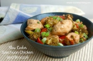 Slow Cooker Szechuan Chicken and Broccoli