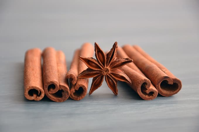 Star Anise and Five Cinnamon Sticks