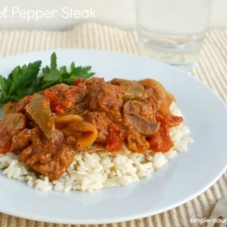Crock Pot Pepper Steak – 4 SmartPoints