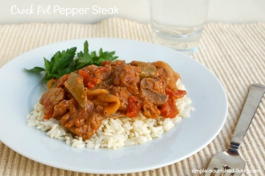 Slow Cooker Pepper Steak - 4 WW Freestyle SmartPoints