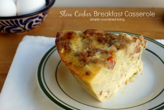 Slow Cooker Breakfast Casserole - 6 Weight Watchers Freestyle SmartPoints