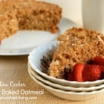 Slow Cooker Coconut Baked Oatmeal
