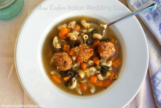Easy Crock Pot Italian Wedding Soup - 5 WW Freestyle SmartPoints