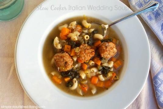 Easy Slow Cooker Italian Wedding Soup: 5 WW Freestyle SmartPoints