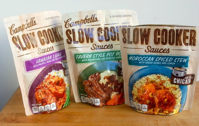 Campbell's Slow Cooker Sauce Packets - including Hawaiian Luau, Tavern Style Pot Roast and Moroccan Spiced Stew
