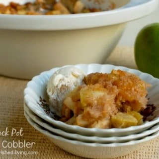 Crock Pot Apple Cobbler - 9 Weight Watchers SmartPoints