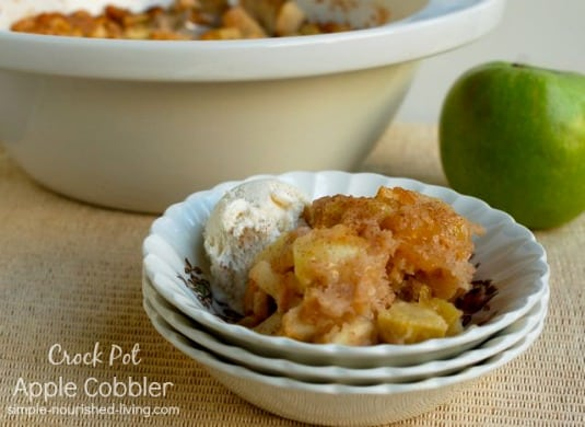 Crock Pot Apple Cobbler Made Lighter