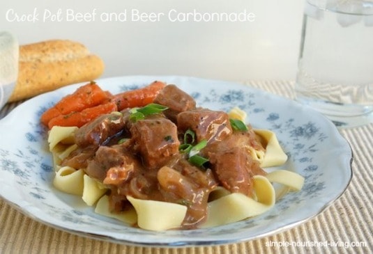 Slow Cooker Beef and Beer Carbonnade