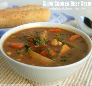 Weight Watchers Hearty Slow Cooker Beef Stew