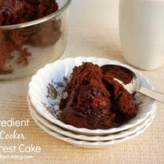 2 Ingredient Slow Cooker Black Forest Cake