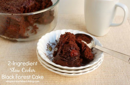 2 Ingredient Slow Cooker Black Forest Cake