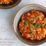 Slow Cooker Moroccan Vegetarian Stew
