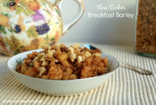 Crock Pot Breakfast Barley