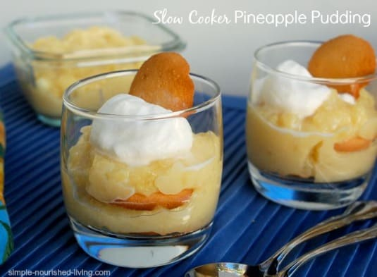 Crock Pot Pineapple Pudding