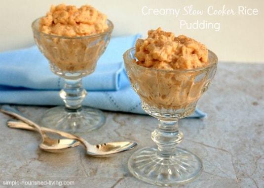 Creamy Crock Pot Rice Pudding