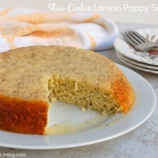 slow cooker lemon poppy seed cake