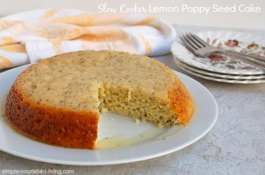 Crock Pot Lemon Poppy Seed Cake