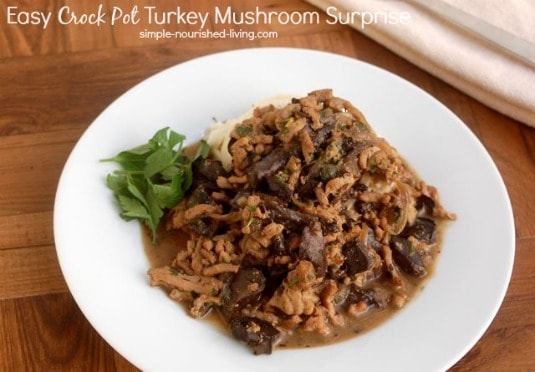 Easy Slow Cooker Turkey Mushrooms Surprise