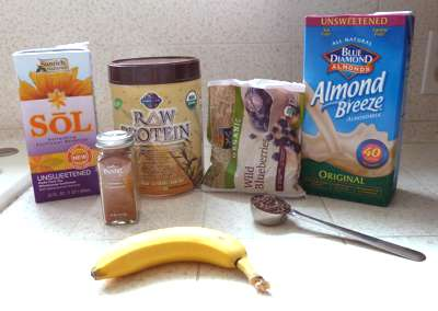 Blueberry Banana Almond Butter Smoothie Ingredients