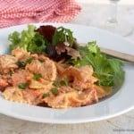 Creamy Slow Cooker Bacon Ranch Chicken & Pasta
