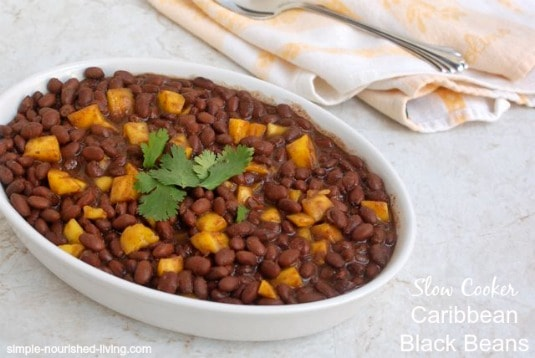 Slow Cooker Caribbean Black Beans