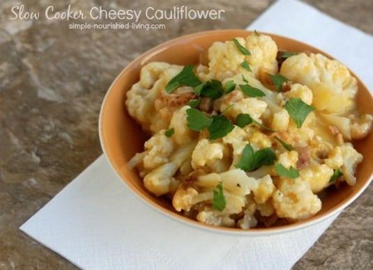 Crock Pot Cheesy Cauliflower