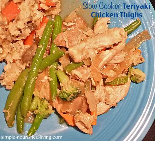 Easy Crock Pot Chicken Teriyaki Thighs