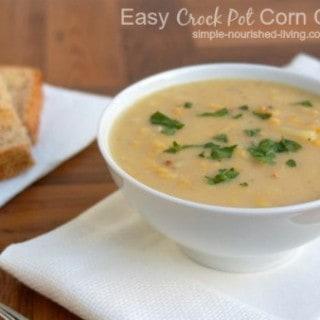 easy crock pot corn chowder