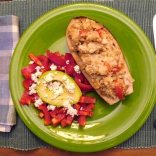 Crock Pot Stuffed Eggplant