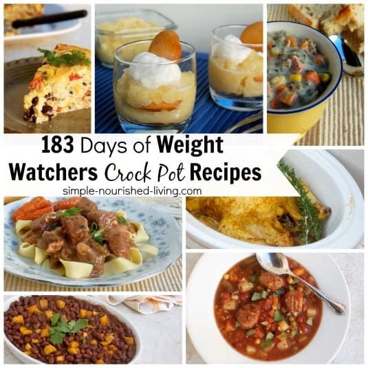 Crock Pot Cooking Photo Collage with photos for Southwest Breakfast Casserole, Lemon Pudding, Turkey and Wild Rice Soup, Beef with Gravy over Noodles, Caribbean Black Beans with Mango and Italian Meatball Soup