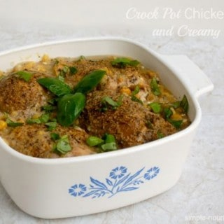Crock Pot Chicken Thighs with Creamy Corn