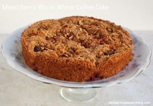 Mixed Berry Whole Wheat Coffee Cake