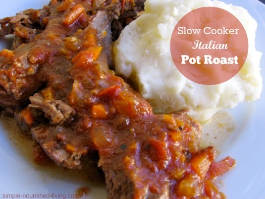 Slow Cooker Pot Roast Italian Style - 4 Weight Watchers SmartPoints