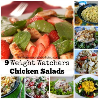 Weight Watchers Chicken Salad Recipes Collage with Text