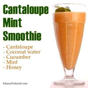 Cantaloupe Mint Smoothie Recipe