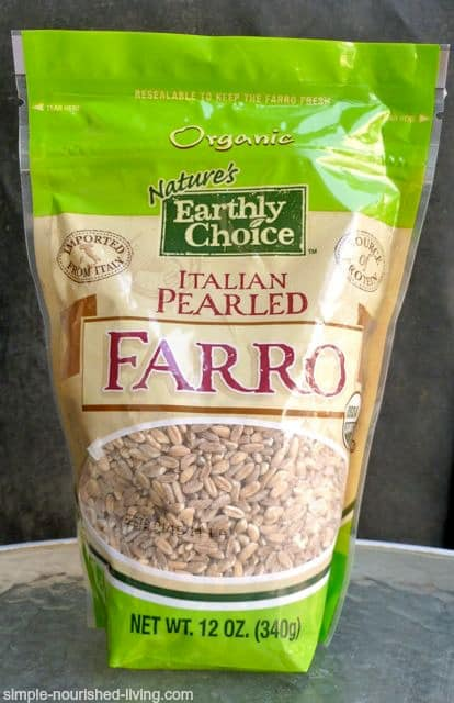 Organic Italian Pearled Farro in package by Nature's Earthly Choice