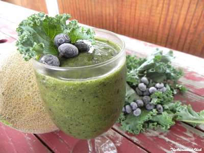 Kale Cantaloupe Smoothie by Adirondack Chick
