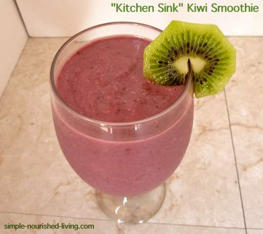 Kitchen Sink Kiwi Smoothie