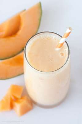 Peach Cantaloupe Smoothie by Design Eat Repeat