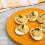 Skinny Salmon Stuffed Eggs