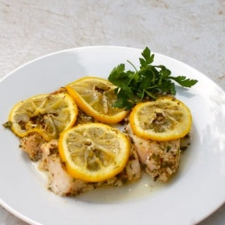 Easy Baked Fish with Lemon and Herbs – 1 SmartPoint