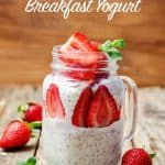 Best Breakfast Yogurt for Weight Watchers with Fresh Strawberries - 6 SmartPoints