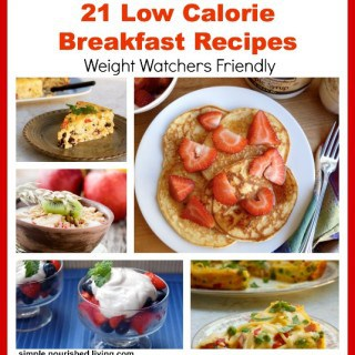 Low Calorie Breakfast Recipes Collage