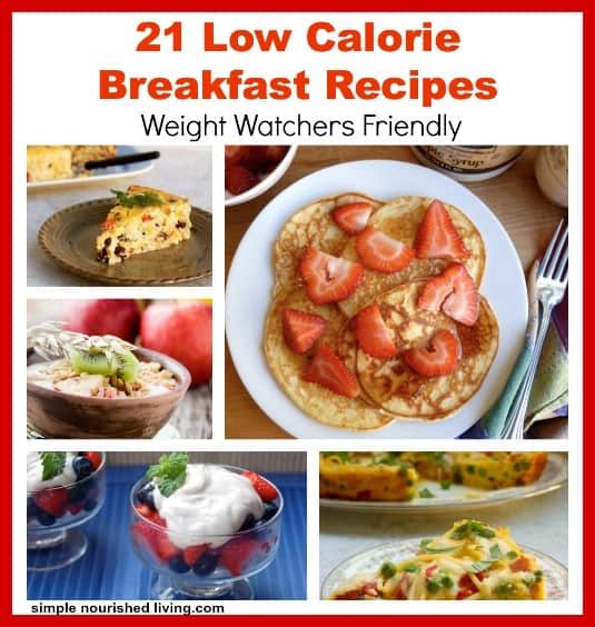 Low calorie breakfast recipes with weight watchers points low calorie breakfast recipes collage forumfinder Choice Image